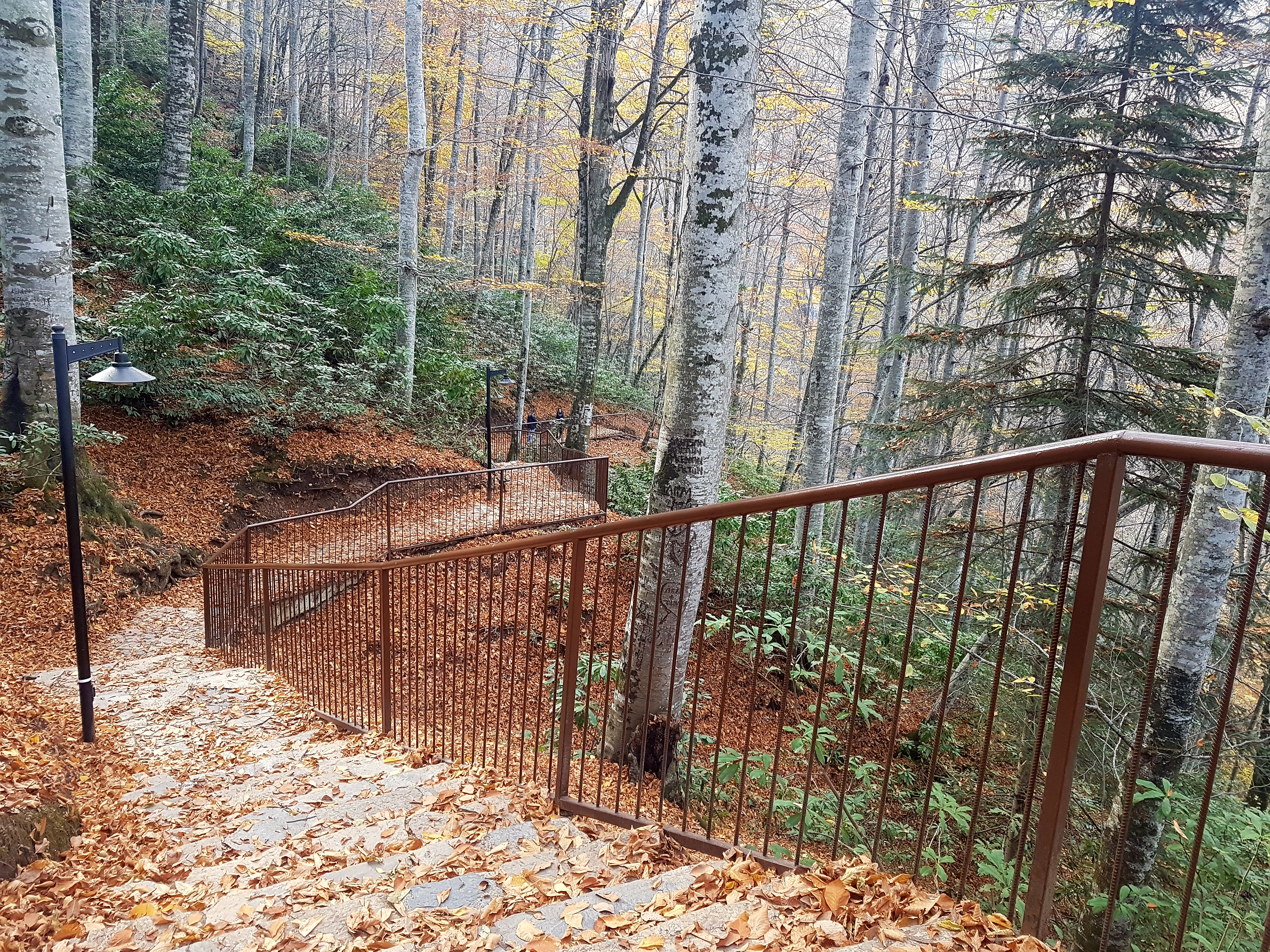 Güzeldere Şelalesi merdivenler