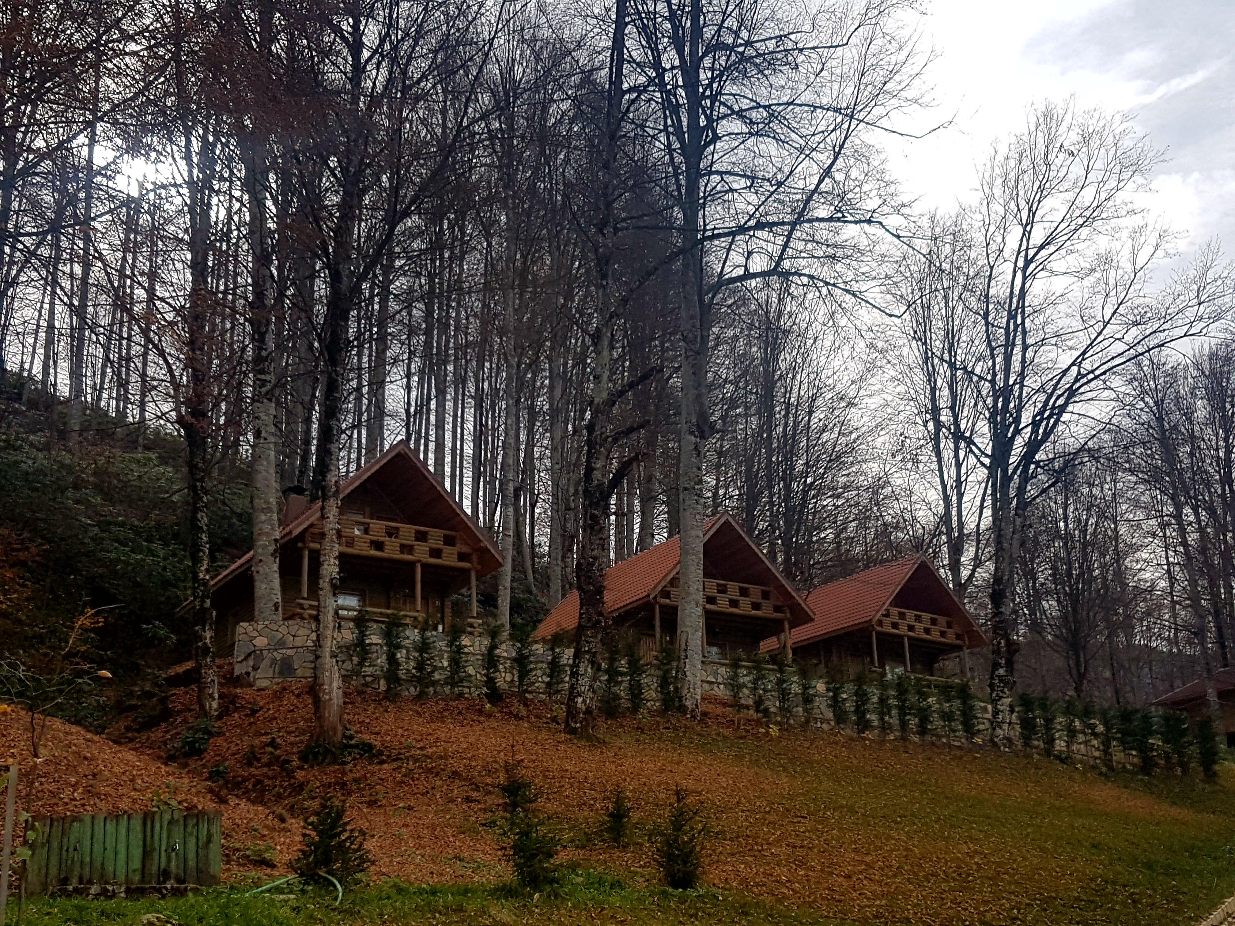 Güzeldere Şelalesi Mlli Parkı bungalovlar