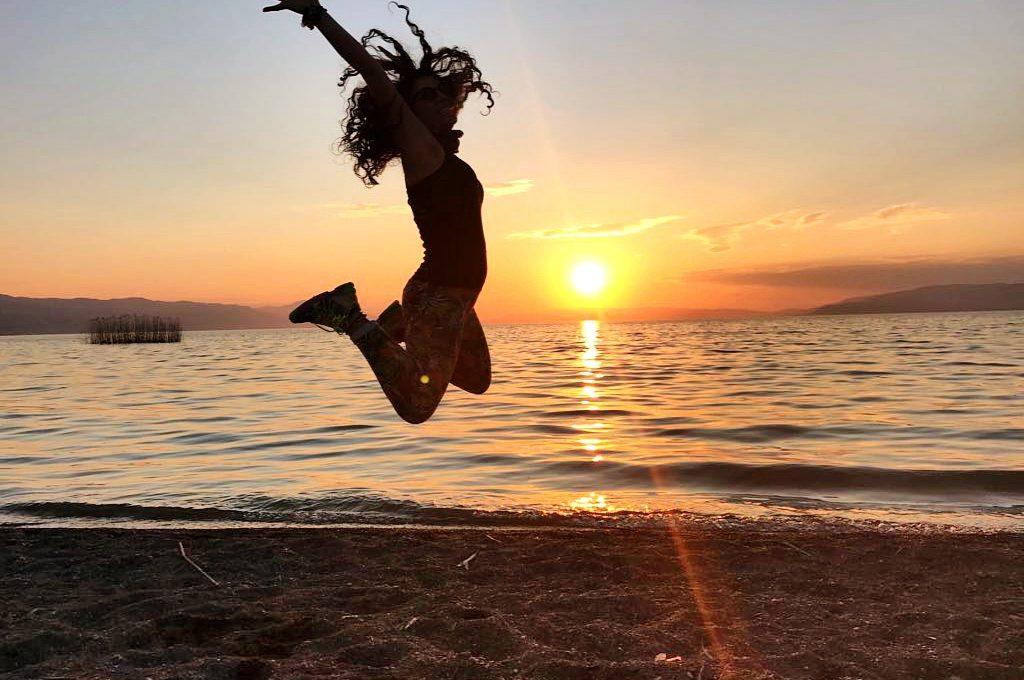 İznik gölünde gün batımı