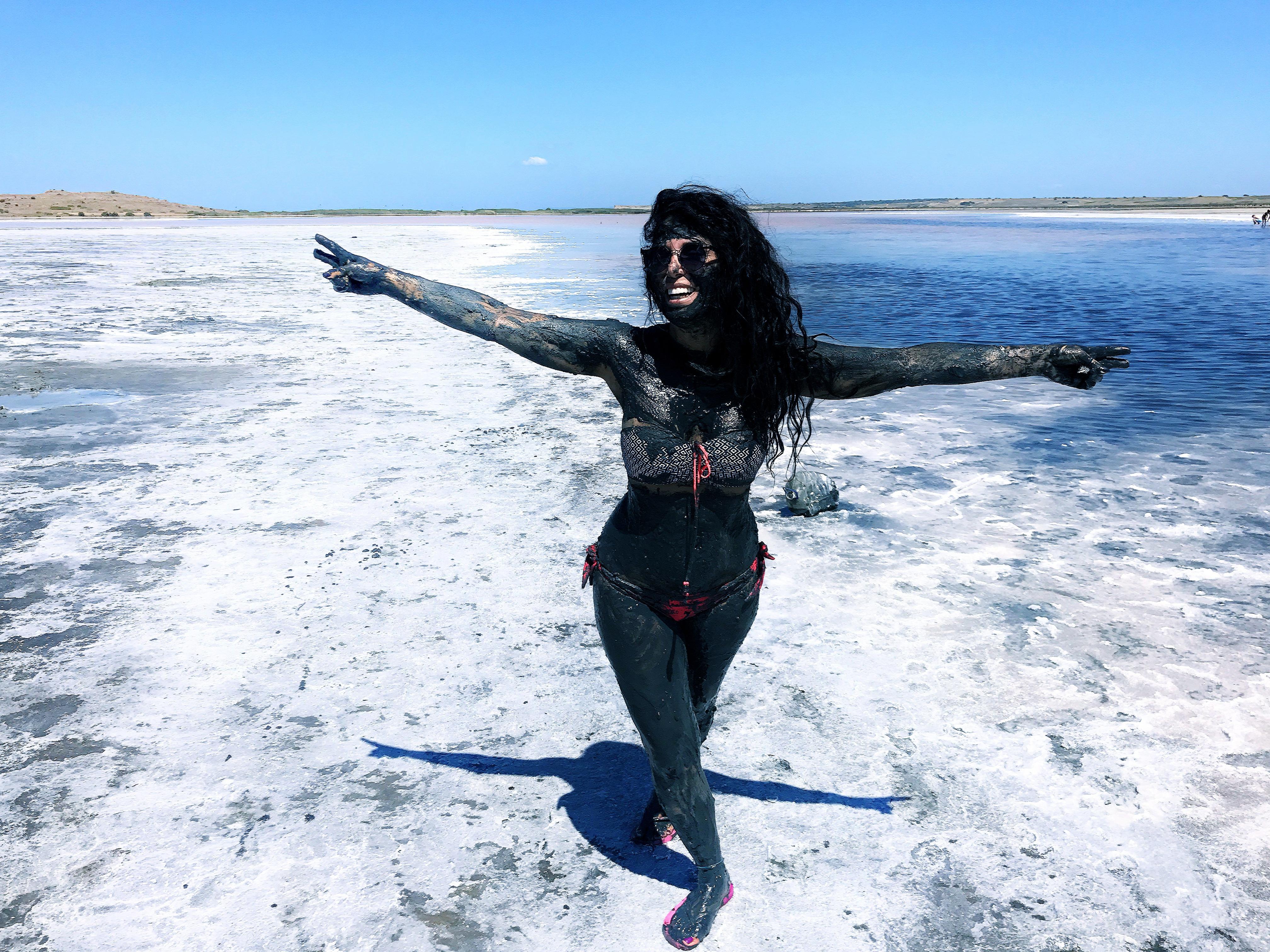 Gökçeada Tuz Gölü çamur banyosu