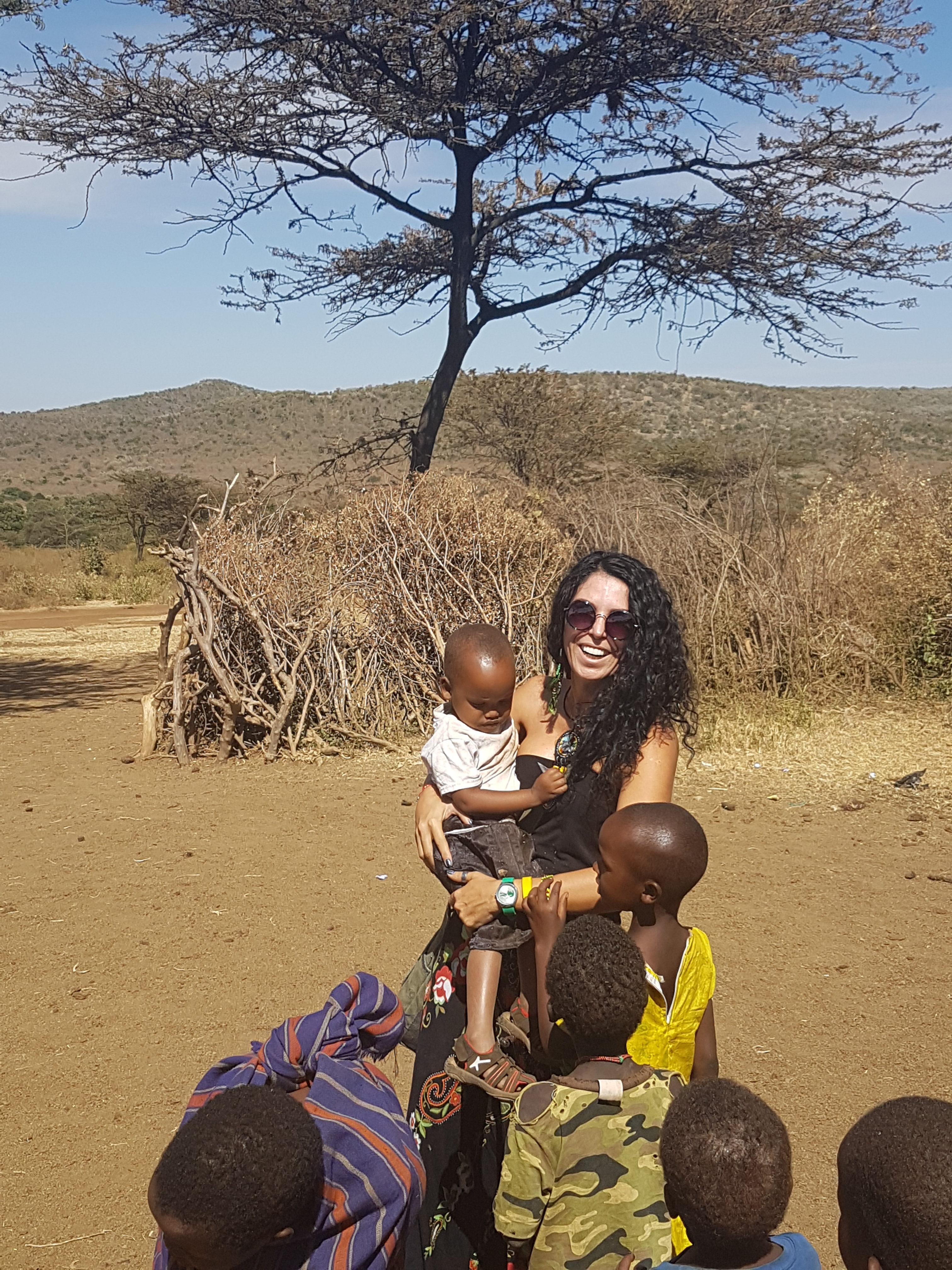 Masai Mara çocuklarla