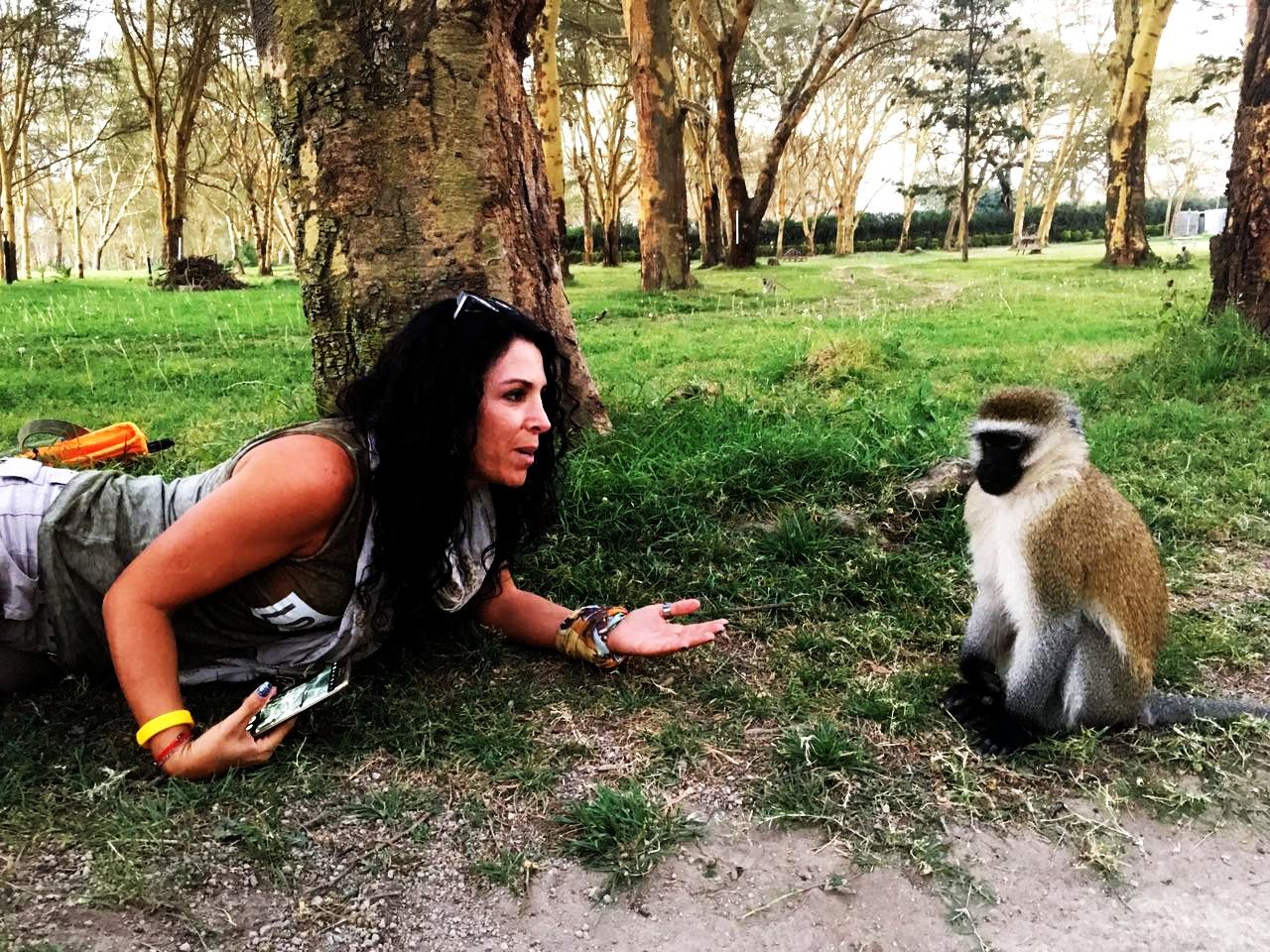 Lake Naivasha, Maymunlar
