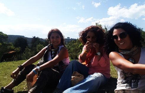 Masai Mara yolunda piknik