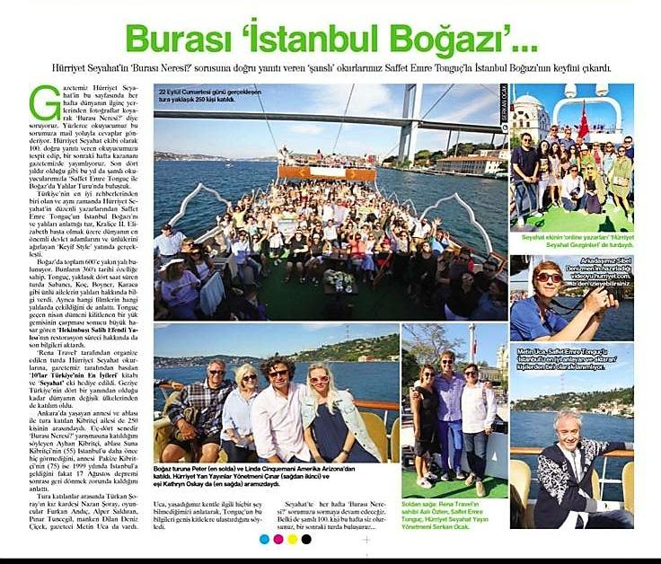 Hürriyet Seyahat Yazarları Boğaz Gezisi
