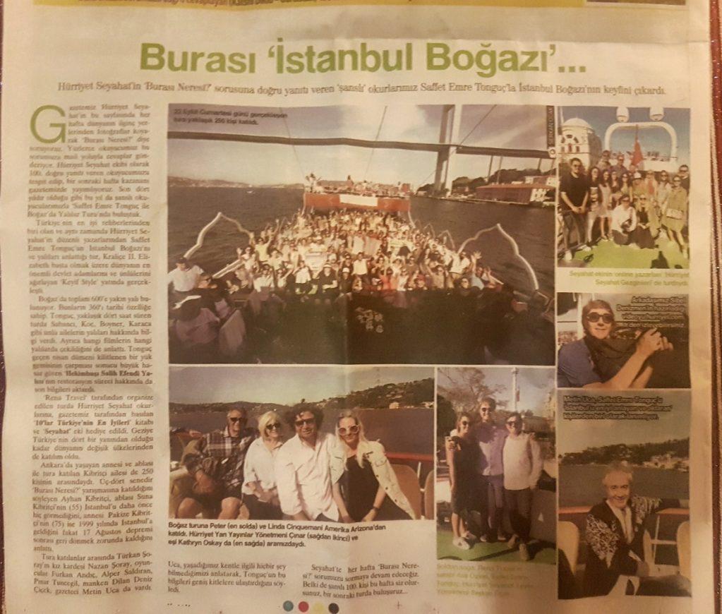İstanbul Boğazı Hürriyet Seyahat Yazarlar