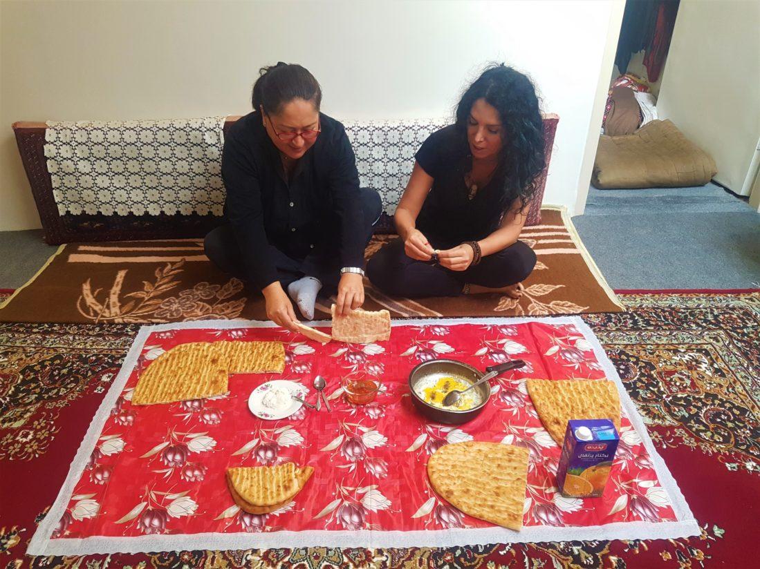 Tebriz, Bizi misafir eden Bahman'ın evi