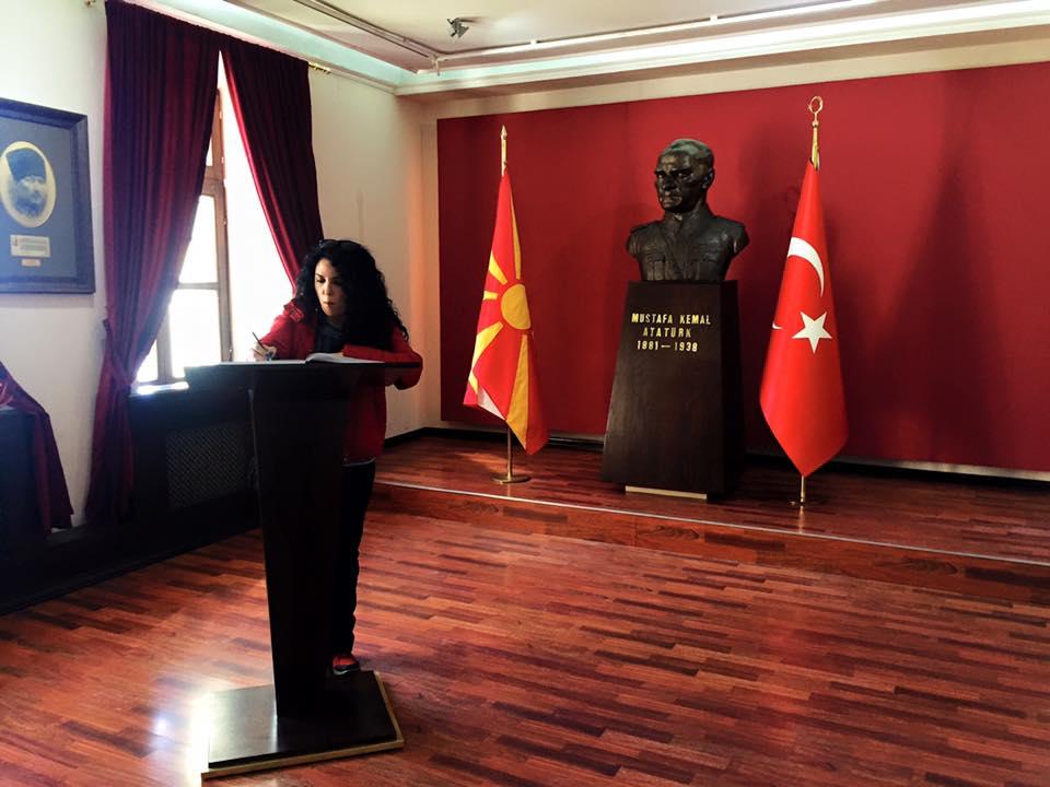 Manastır Atatürk!e ayrılan bölüm