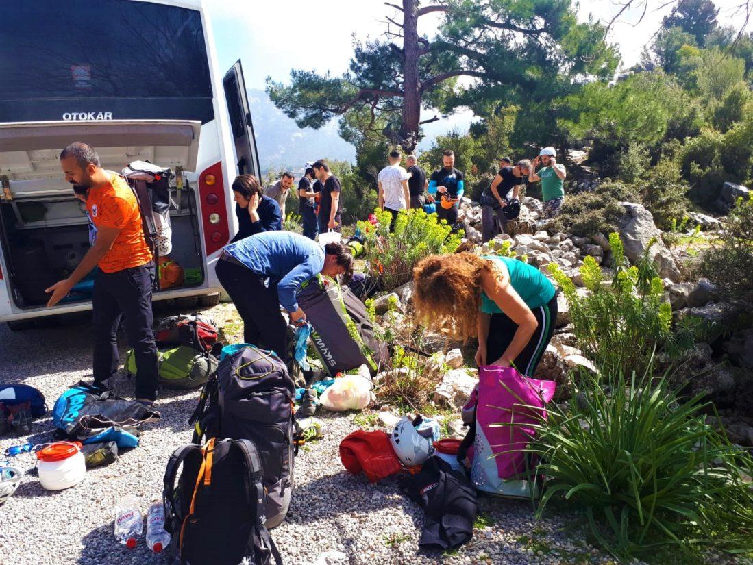 Sarpdere Kuru Kanyonu öncesi hazırlıklar